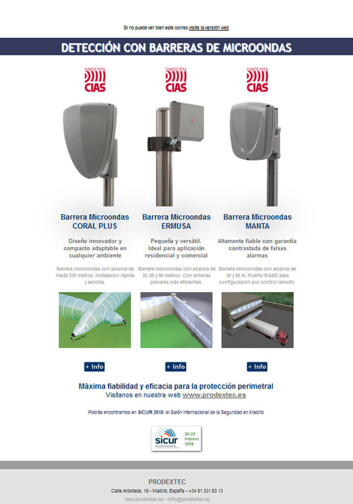 Newsletter 7: Barreras de microondas de CIAS