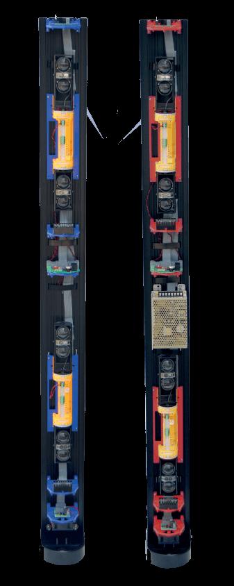 Las columnas preinstaladas EasyPack para Barreras de infrarrojos