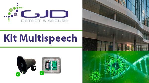 El kit Multispeech de GJD utilizado en la prevención del Coronavirus