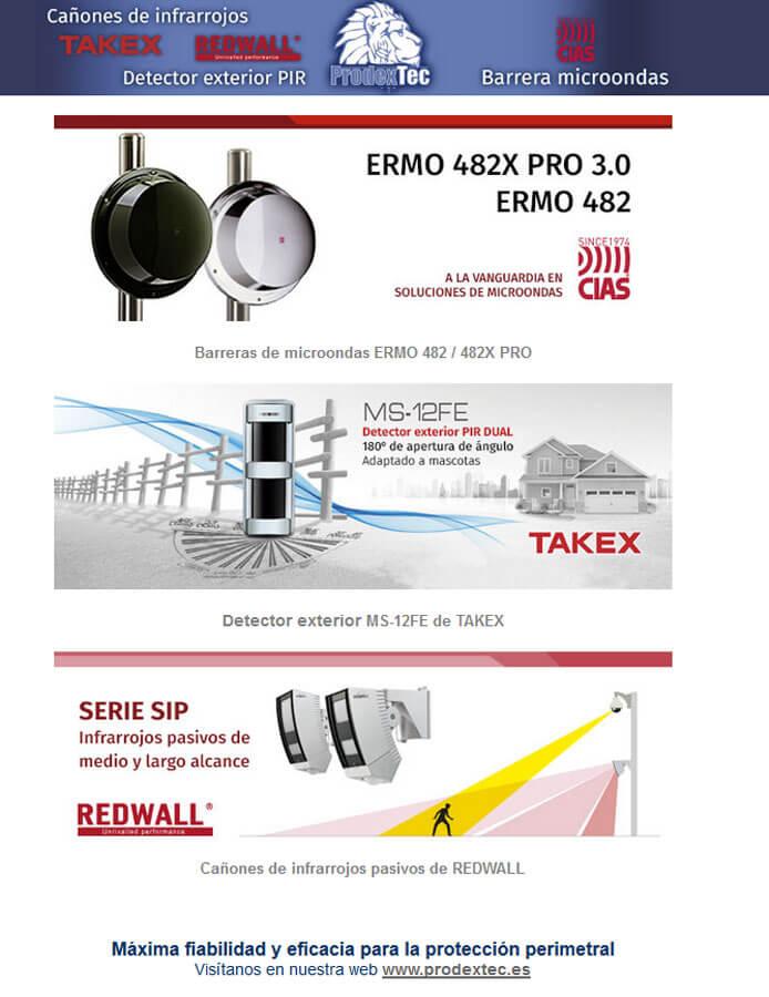 Barreras microondas, cañones infrarrojos y detectores pasivos