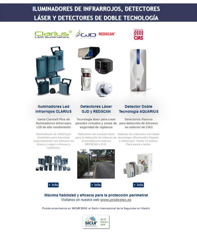 Newsletter 8: Iluminadores de infrarrojos, detectores laser y detectores de doble tecnología
