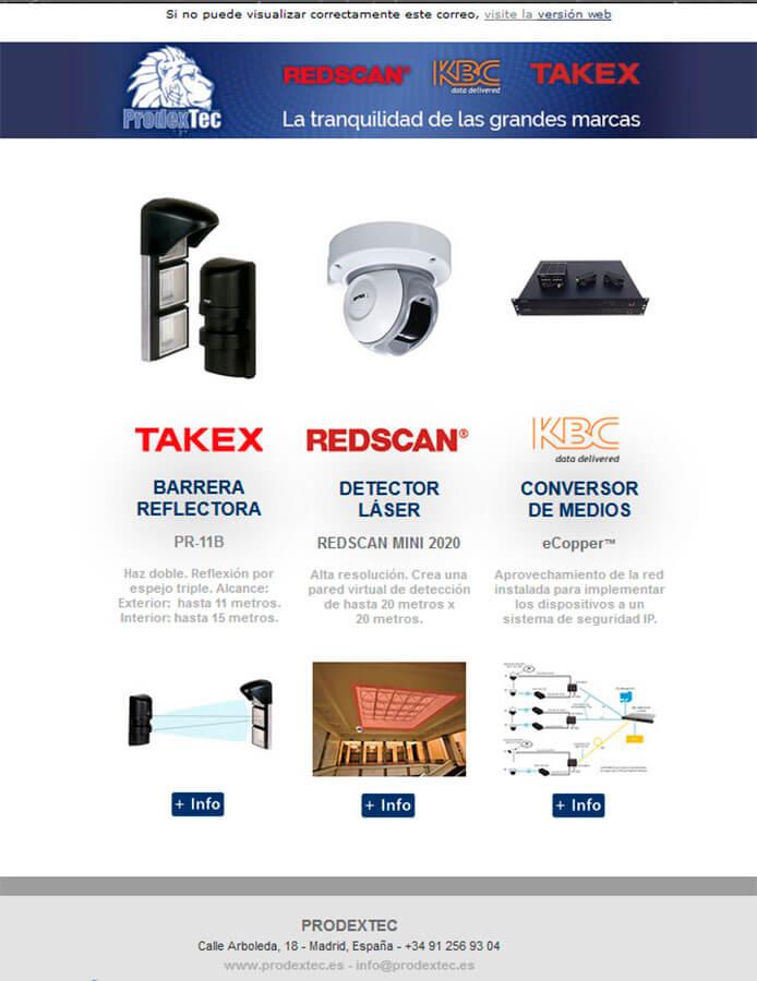 Barreras reflectoras, detectores laser y conversores de medios