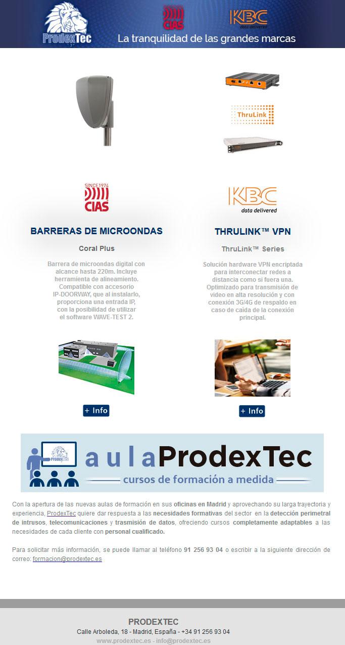 Barreras de Microondas Coral Plus y ThruLink™ Series de KBC Netwroks
