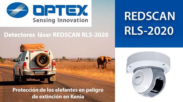 Los detectores láser REDSCAN RLS-2020 de OPTEX están ayudando a proteger a los elefantes en peligro de extinción en Kenia.