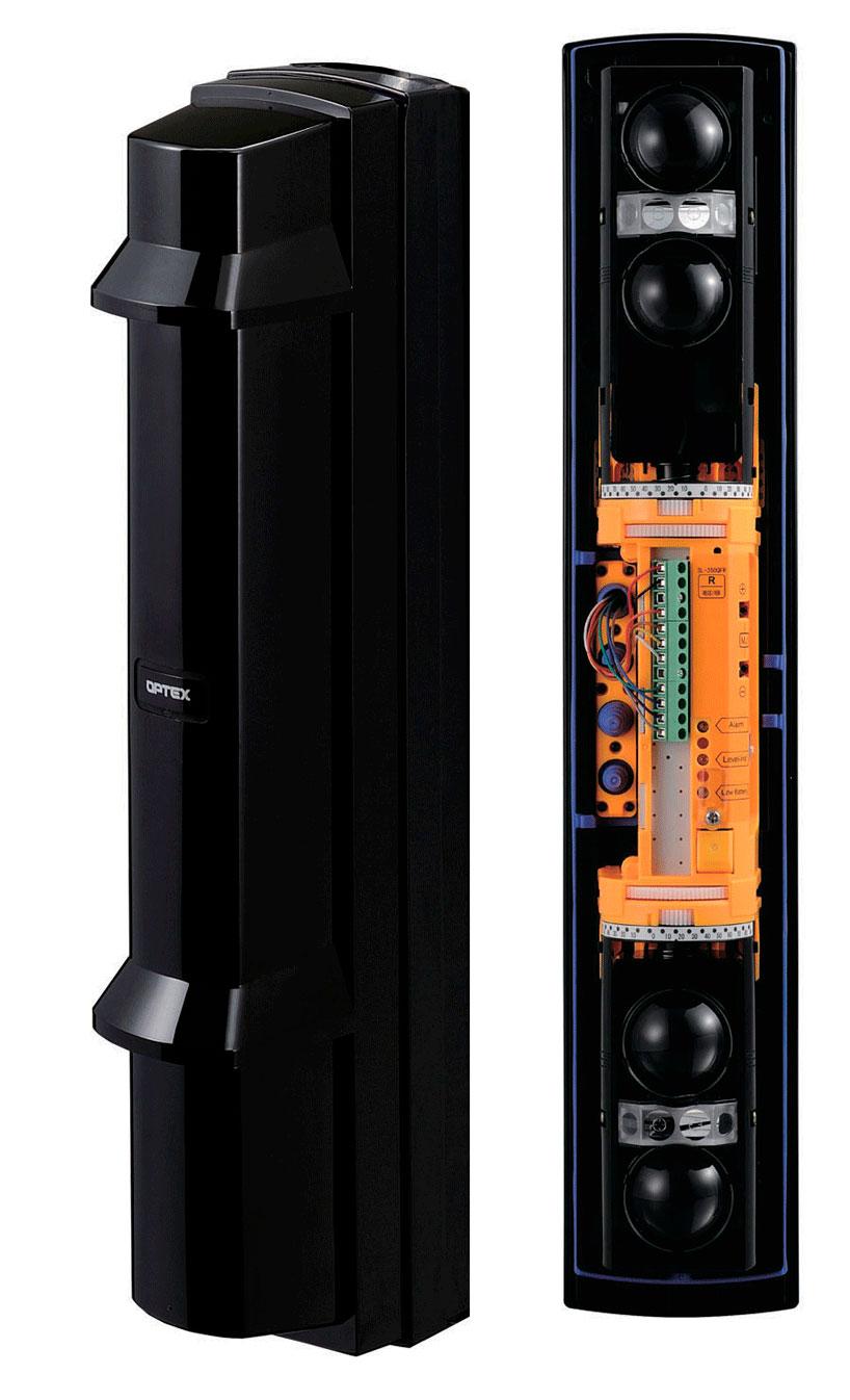 Las barreras de infrarrojos SL-350QFRi de Optex para la protección perimetral antiintrusos