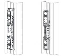 Barrera infrarrojas OPTEX SL200QN / SL350QN / SL650QN montada en columna perimetral de BUNKER SEGURIDAD