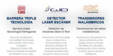 Barrera triple tecnología, detectores de escáner láser y trasmisores de datos inalámbrico