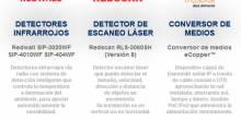 Detectores infrarrojos, detectores de escaneo láser y conversores de medios eCopper™