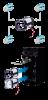 Soporte CR123 CRH-5 para cuatro pilas