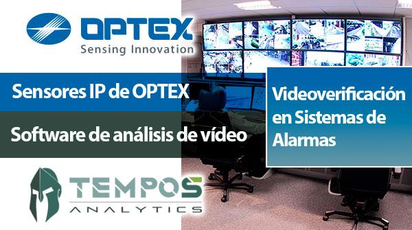 Videoverificación en Sistemas de alarmas con OPTEX y TEMPOS ANALYTICS